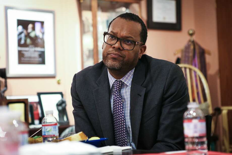 Fred Blackwell, CEO of the San Francisco Foundations listens to ideas on equity during a meeting held at Glide Memorial Church in San Francisco, California on Thursday, September 17, 2015. Photo: Gabrielle Lurie, Special To The Chronicle