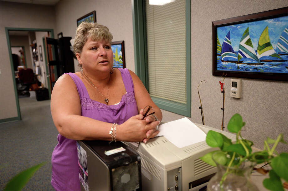 Along with many Sabine Pass residents, Scottie Ray lived in a tent for several days after Hurricane Rita passed and then lived in a FEMA trailer for months while her home was repaired. Photo taken Thursday, July 09, 2015 Guiseppe Barranco/The Enterprise Photo: Guiseppe Barranco, Beaumont Enterprise