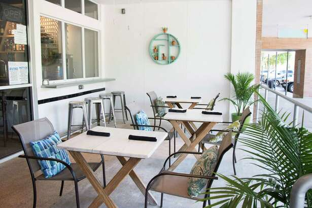 If you're looking to enjoy a margarita al fresco, grab a seat at an outdoor table in front of the restaurant.