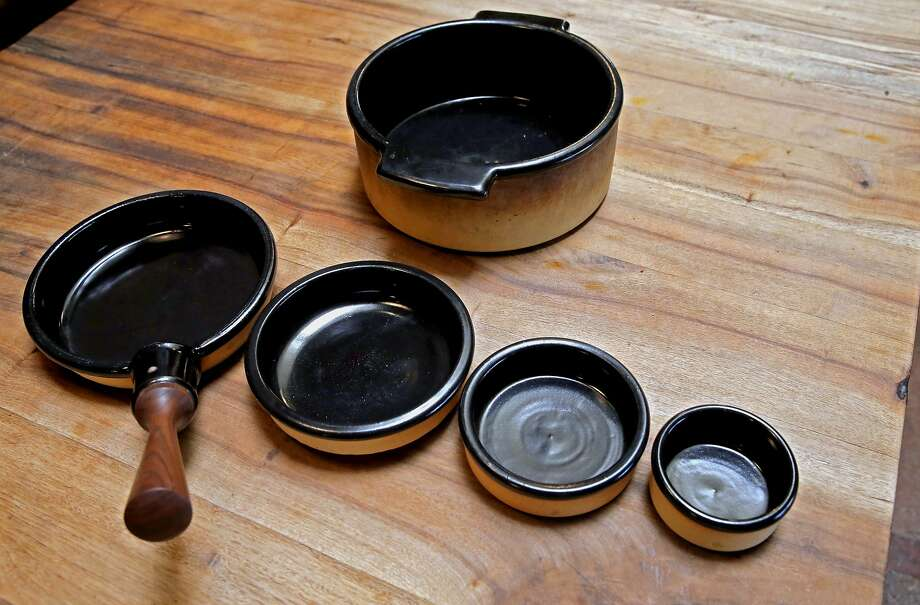 Flameware ceramics created by  Travis McFlynn for Camino Restaurant. Photo: Michael Macor, The Chronicle