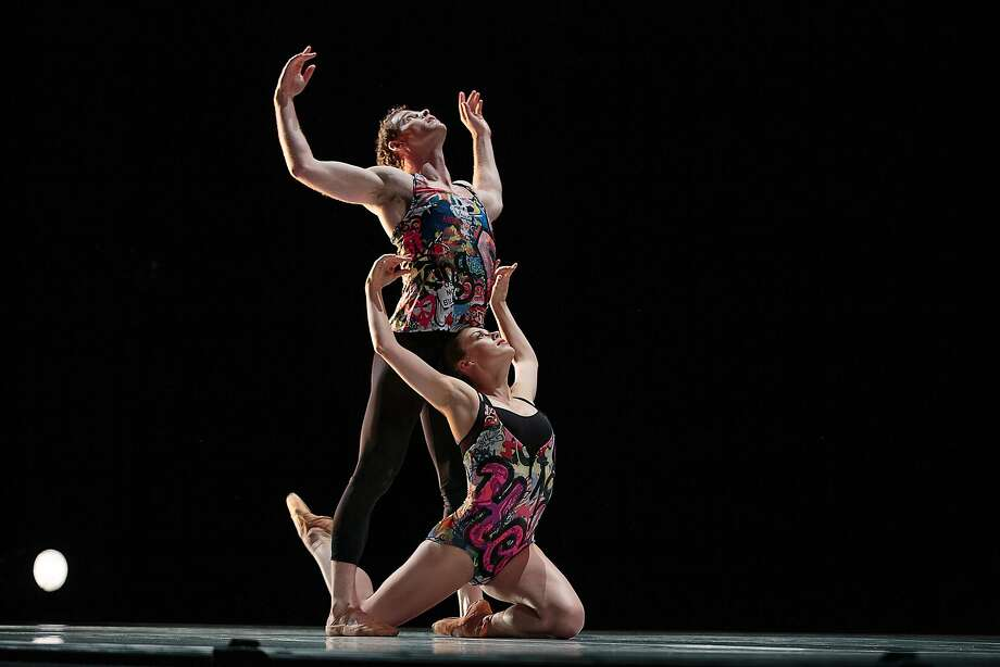 """Smuin dancers Weston Krukow and Susan Roemer in """"Broken Open,"""" a world premiere by Amy Seiwert, presented as part of Smuin Ballet's Dance Series One, performing around the Bay Area through Oct. 4. Photo: Chris Hardy"""