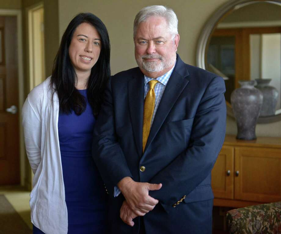 David Martin, Dean of the Ancell School of Business at Western Connecticut State University, and Amanda Allen, from the Women's Business Development Council on the WCSU Westside campus on Thursday, September 17, 2015, in Danbury, Conn. The Women's Business Development Council is opening an office on the WCSU Westside campus. Photo: H John Voorhees III / Hearst Connecticut Media / The News-Times