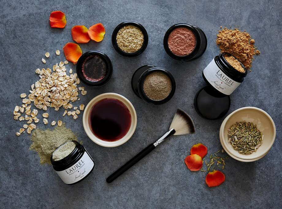 A few products from Laurel Shaffer's skin-care line, Laurel Whole Plant Organics. Megan Porchen, a trained holistic aesthetician and unofficial energy healer, uses Shaeffer's line in facials at Laurel Skincare Studio in Sausalito. Photo: Trinette Reed Photography, Laurel Whole Plant Organics