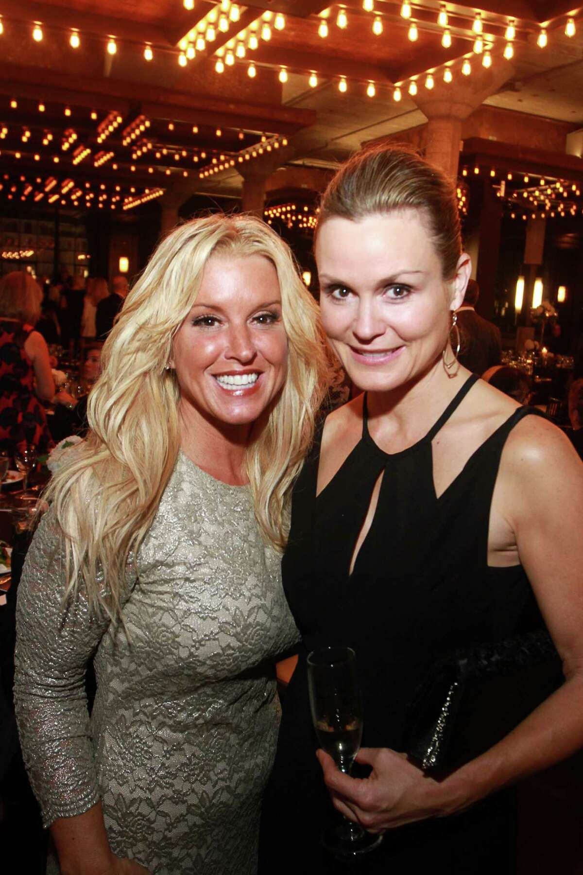 Stacie Breeze, left, and Amy Morris at the Fierce and Fabulous Houston PetSet Soiree at the Astorian. (For the Chronicle/Gary Fountain, September 11, 2015)