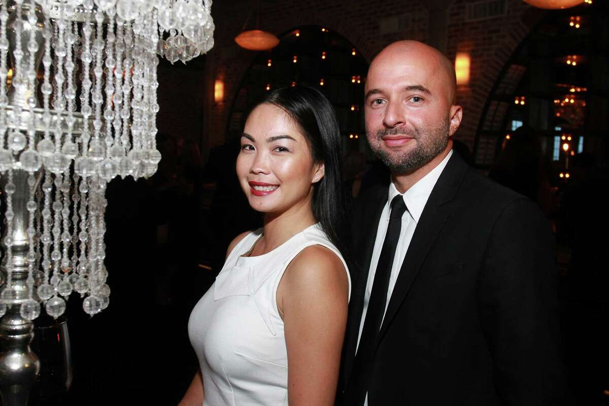 Nina and Isaac Tapias at the Fierce and Fabulous Houston PetSet Soiree at the Astorian. (For the Chronicle/Gary Fountain, September 11, 2015)