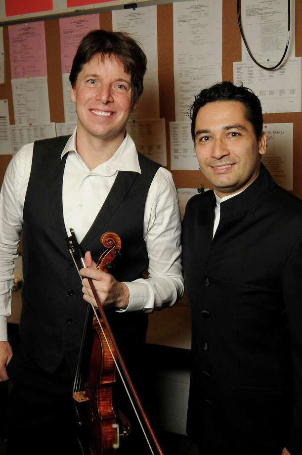 Joshua Bell, left, and Andrés Orozco-Estrada Photo: Dave Rossman, Freelance / Freelalnce