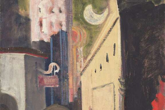 """Mark Rothko painted """"Street Scene"""" in 1936/1937. (Oil on canvas, National Gallery of Art, Washington, Gift of The Mark Rothko Foundation, Inc. Â 1998 by Kate Rothko Prizel and Christopher Rothko)"""