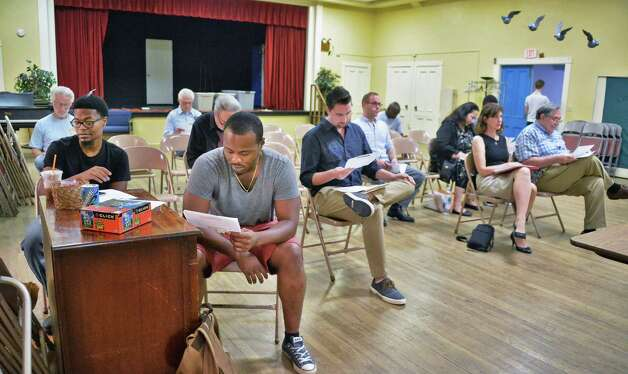"""Acting hopefuls fill out applications during an open casting call for the independent film project """"Weightless"""" at Fellowship Hall Friday Sept. 18, 2015 in Troy, NY.  (John Carl D'Annibale / Times Union) Photo: John Carl D'Annibale / 00033187A"""