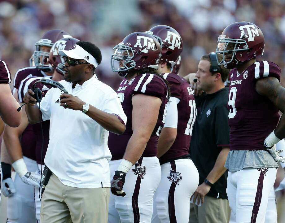 Ags coach Kevin Sumlin will have his work cut out for him as he prepares to face one of his former assistants, Brian Polian and Nevada. Photo: Karen Warren, Staff / © 2015 Houston Chronicle