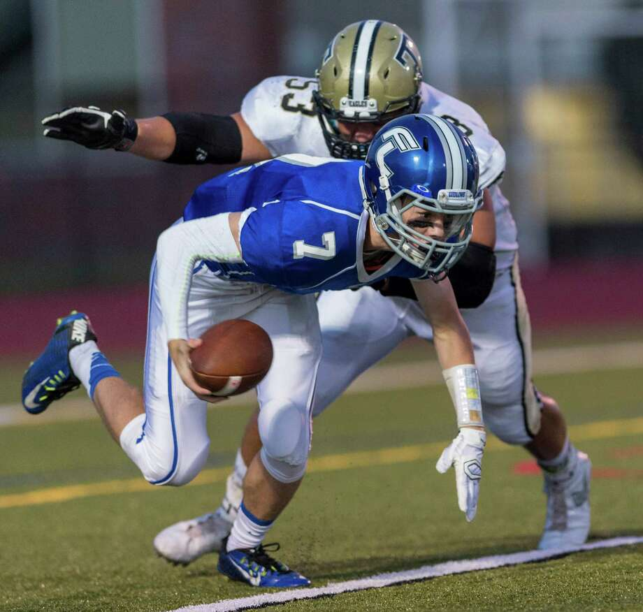 Fairfield Ludlowe High School against Trumbull High School during a football game played at Fairfield Ludlowe High School, Fairfield, CT on Friday, September 18, 2015. Photo: Mark Conrad / For Hearst Connecticut Media / Stamford Advocate Freelance