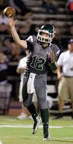 Shen's quarterback Eric Morris throws a pass during their football game against CBA on Friday, Sept. 18, 2015, at Shenendehowa High in Clifton Park, N.Y. (Cindy Schultz / Times Union) Photo: Cindy Schultz / 00033403A
