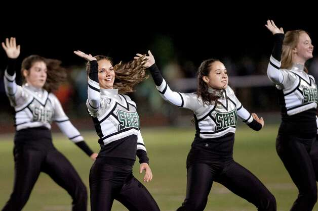 Shen's dance team performs during halftime of their football game against CBA on Friday, Sept. 18, 2015, at Shenendehowa High in Clifton Park, N.Y. (Cindy Schultz / Times Union) Photo: Cindy Schultz / 00033403A