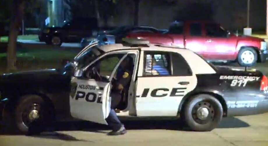 A Jacinto City police officer opened fire on a suspect early Saturday morning after the man jumped into a car and sped away from the officer at a pool hall along Interstate 45 in southeast Houston.