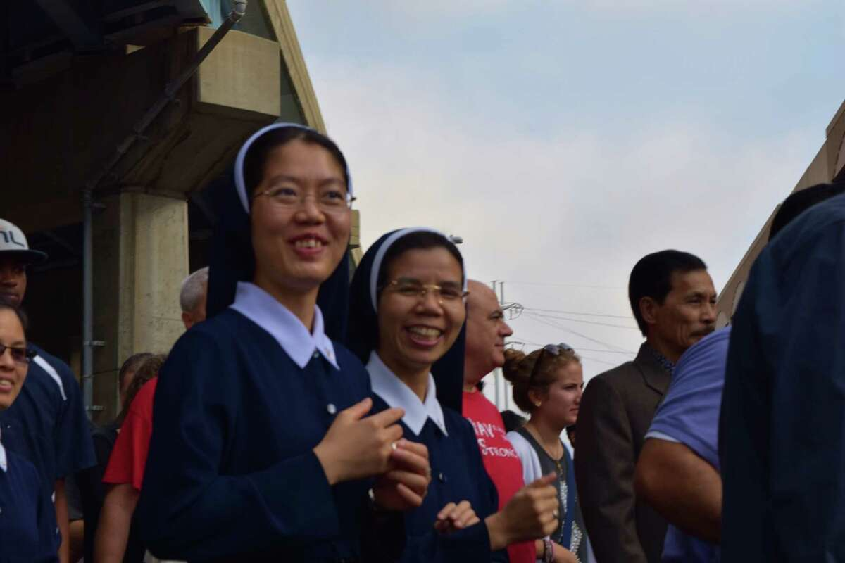 Thousands were SEEN at Harbor Yard Arena September 19, 2015 during the largest Catholic Mass ever in the Bridgeport Diocese. Bishop Frank Caggiano presided over the Synod 2015 mass.