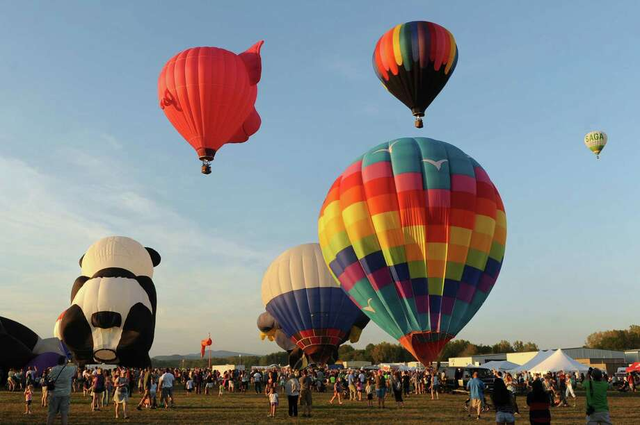 Hundreds of hot air balloons will take to the sky at the 44th Annual Adirondack Balloon Festival. Watch from the ground or go for a ride and see a view you won't soon forget. Free event. There will be a craft fair and food vendors.Opening ceremony is Thursday, Sept 22 in Crandall Park, Glens Falls NY.When: Friday, Sept 23 - Sun, Sept 25. Where: Glens Falls & Queensbury, NY. For more information, visit the website. Photo: Cindy Schultz / 00033270A