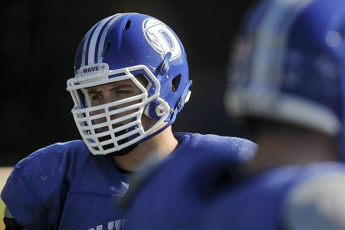 Darien's Mark Evanchick recorded two sacks, giving him 45 for his career and moving him closer to the all-time state record of 60 held by Bloomfield star and former NFL Pro Bowler Dwight Freeney.