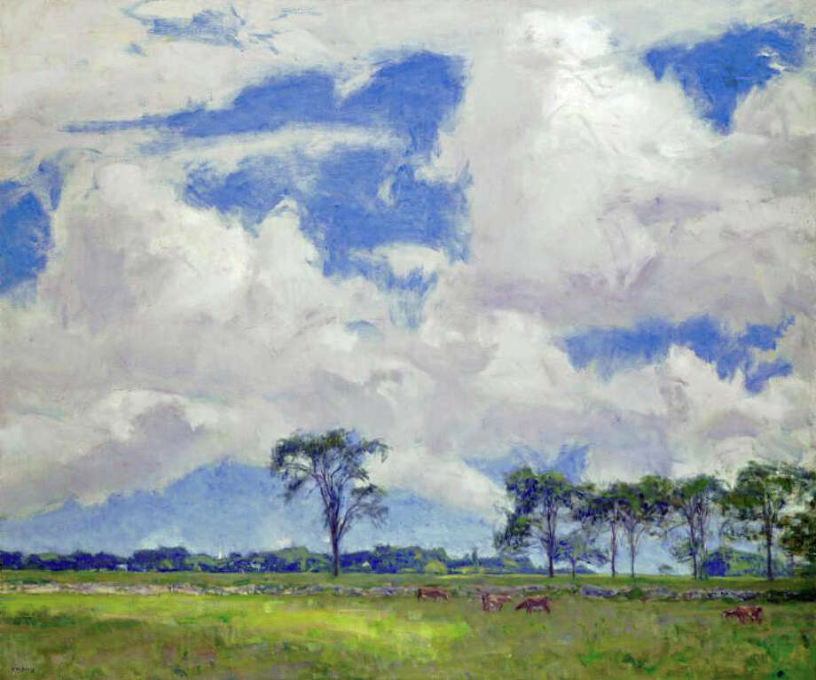 """A new retrospective exhibition, """"Mystic Impressionist"""" featuring the work of Charles Harold Davis (1856-1933) will be at the Bruce Museum, 1 Museum Drive, from Sept. 26 through Jan. 3. The show will include more than 30 paintings by the artist, including works on loan from the Wadsworth Atheneum Museum of Art, Harvard Art Museums, Florence Griswold Museum, New Britain Museum of American Art and private collectors and galleries. This picture, """"Change of Wind,"""" from 1927, is one of the pieces on display. A lecture on the artist by by guest curator Valerie Ann Leeds will be held from 7 to 8:30 p.m. Sept. 29. Reservations recommended. Cost: $5 museum members, $10 non-members. For registation, visit http://bit.ly/1Nzks3N Photo: Contributed Photo / Greenwich Time Contributed"""