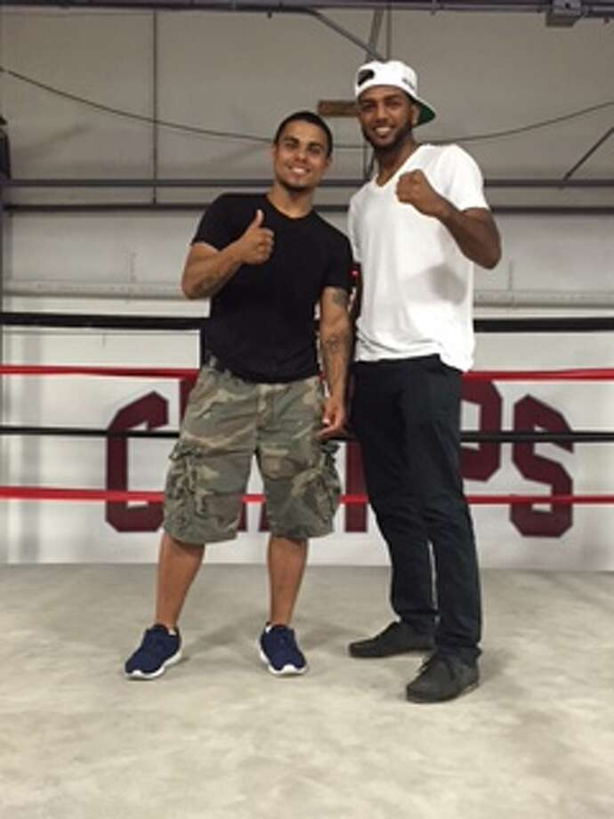 Amateur boxers Omar Bordoy, left, and Rauf Tahir, both of Danbury, are set to compete in the National PAL Boxing Championships beginning next week in Oxnard, Calif. / News-Times
