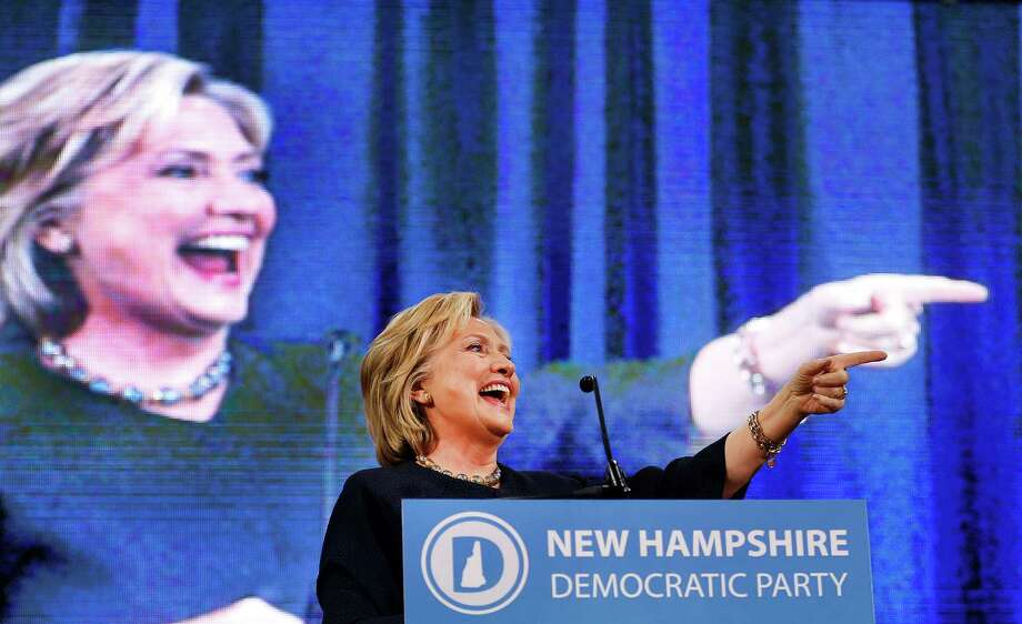 Democratic presidential candidate Hillary Rodham Clinton arrives to speak at the state's annual Democratic convention Saturday, Sept. 19, 2015, in Manchester, .N.H (AP Photo/Jim Cole) ORG XMIT: NHJC106 Photo: Jim Cole / AP