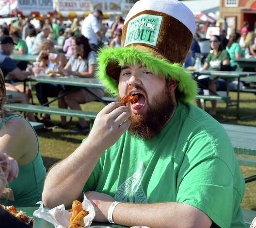 Tim LeClair of Ganesvoort samples the fare at the 19th Annual Irish 2000 Music and Arts FestivalOs at the Saratoga County Fairgrounds Saturday Sept. 19, 2015 in Ballston Spa, NY.  (John Carl D'Annibale / Times Union) Photo: John Carl D'Annibale / 00033379A