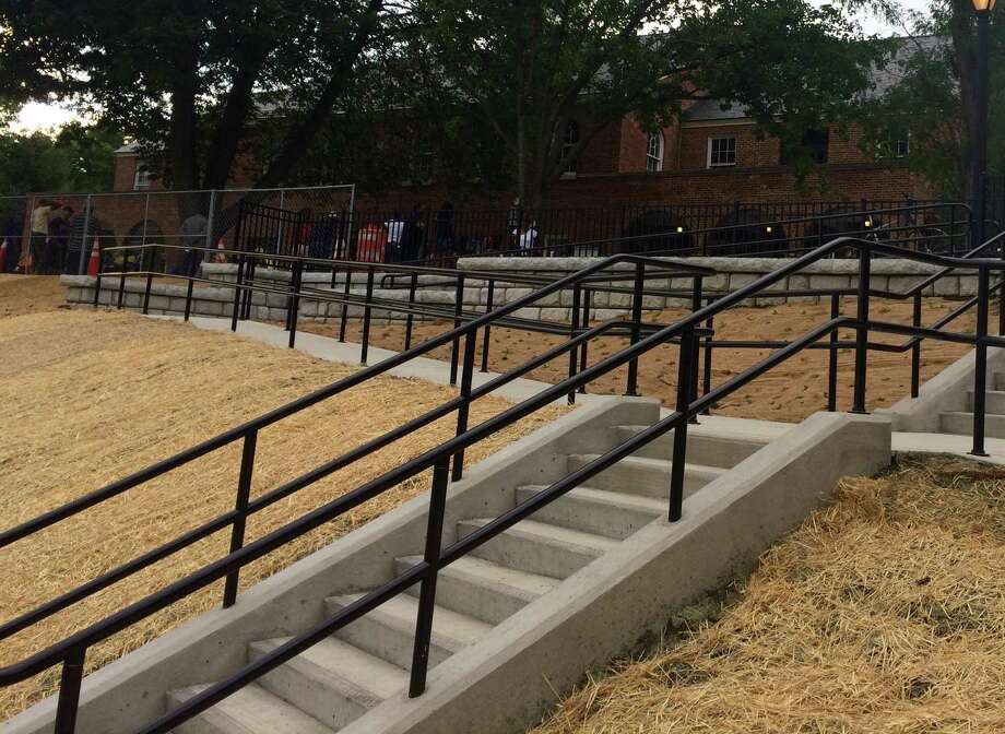 A $358,000 community block grant funded the new steps and ramp at Lincoln Park in Albany. (Lindsay Ellis/Times Union)