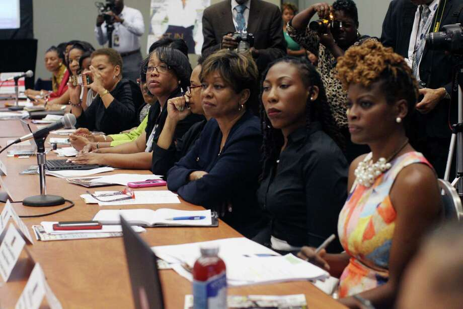 Members of the Black Women's Rountable hold a forum on the power of African American women at the polls at the Congressional Black Caucus Foundation's Annual Legislative Conference on Wednesday, Sept. 16, 2015 in Washington. The Black Lives Matter network will not make a presidential endorsement but will keep up its political activism by confronting candidates about the treatment of African-Americans in the United States.  (AP Photo/Lauren Victoria Burke) Photo: Lauren Victoria Burke, FRE / FR132934 AP