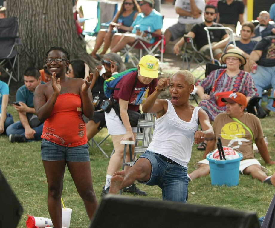 Appreciation for performance of Glen Rexach .  Lady did not want name used. Jazz musicians from across the country are coming to Travis Park this weekend for the two-day, city sponsored Jazz'SALive festival on 09/19/15 Photo: Ron Cortes,  Freelance / For The San Antonio