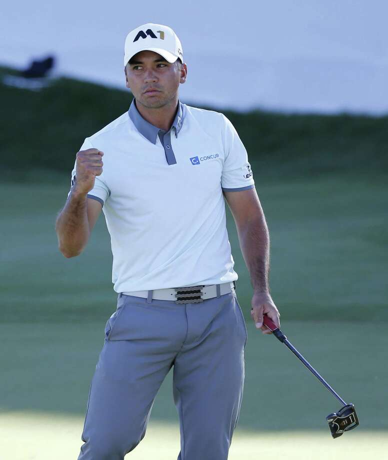 Jason Day of Australia, pumps his fist after making birdie on the 18th hole during the third round of the BMW Championship golf tournament at Conway Farms Golf Club, Saturday, Sept. 19, 2015, in Lake Forest, Ill. (AP Photo/Charles Rex Arbogast) ORG XMIT: ILCA122 Photo: Charles Rex Arbogast / AP