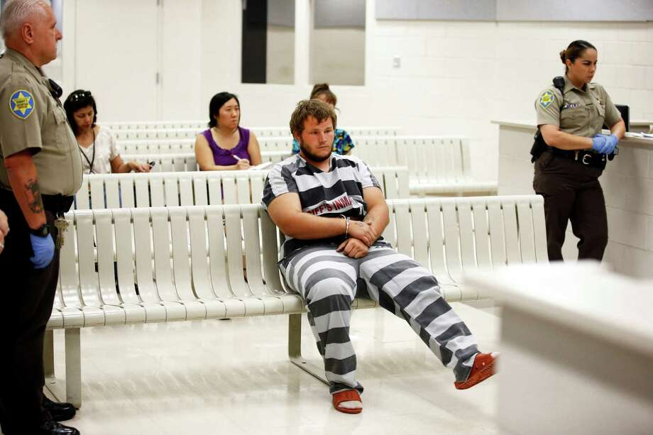 Leslie Allen Merritt Jr., waits to make his initial appearance before a judge at the Maricopa County Sheriff's Office on Saturday, Sept. 19, 2015, in Phoenix. The landscaper is the suspect in a series of Phoenix freeway shootings and was arrested Friday after trying to sell a gun at a pawn shop.  (Rob Schumacher/The Arizona Republic via AP, Pool) Photo: Rob Schumacher, POOL / Associated Press / Pool The Arizona Republic