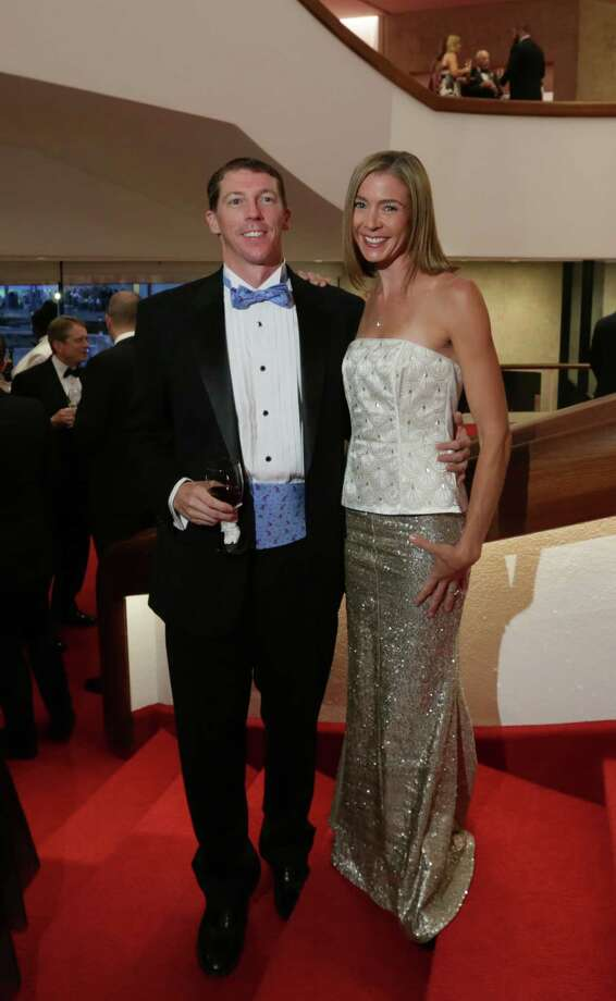 Chris and Gillian Conoscenti at the Alley Theatre Grand ReOpening celebration. Photo: Jon Shapley, Houston Chronicle / © 2015 Houston Chronicle