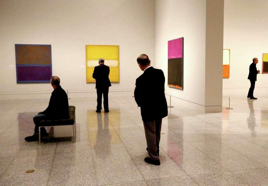 """""""Mark Rothko: A Retrospective"""" opens today at Museum of Fine Arts, Houston. Photo: Gary Coronado, Staff / © 2015 Houston Chronicle"""