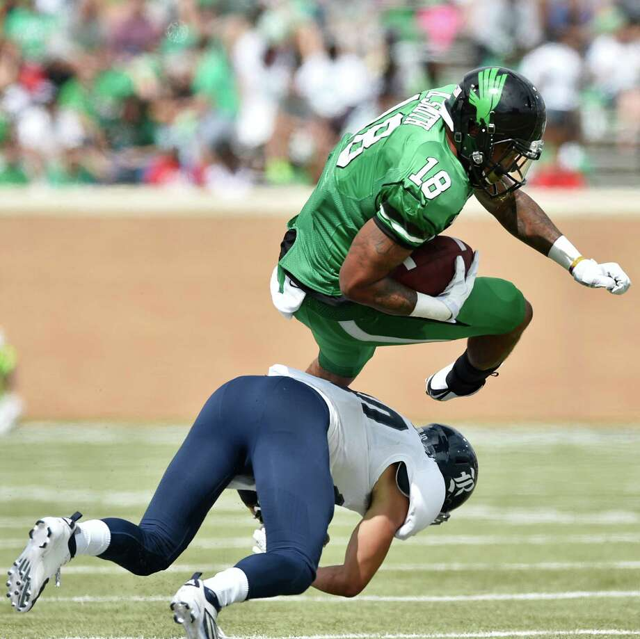 No. 12 North Texas (0-2)Ranking: UnrankedLast week: Lost to Rice, 38-24Next: at Iowa, 2:30 p.m. Saturday (ESPNU)Why they're here: The Mean Green has given up loads of points against in-state opponents SMU and Rice. Things don'tfigure to get much better at Iowa this week. We'll see what they do later in the season when they get a crack atUTSA and UTEP. Photo: David Minton, Staff Photographer / Denton Record-Chronicle
