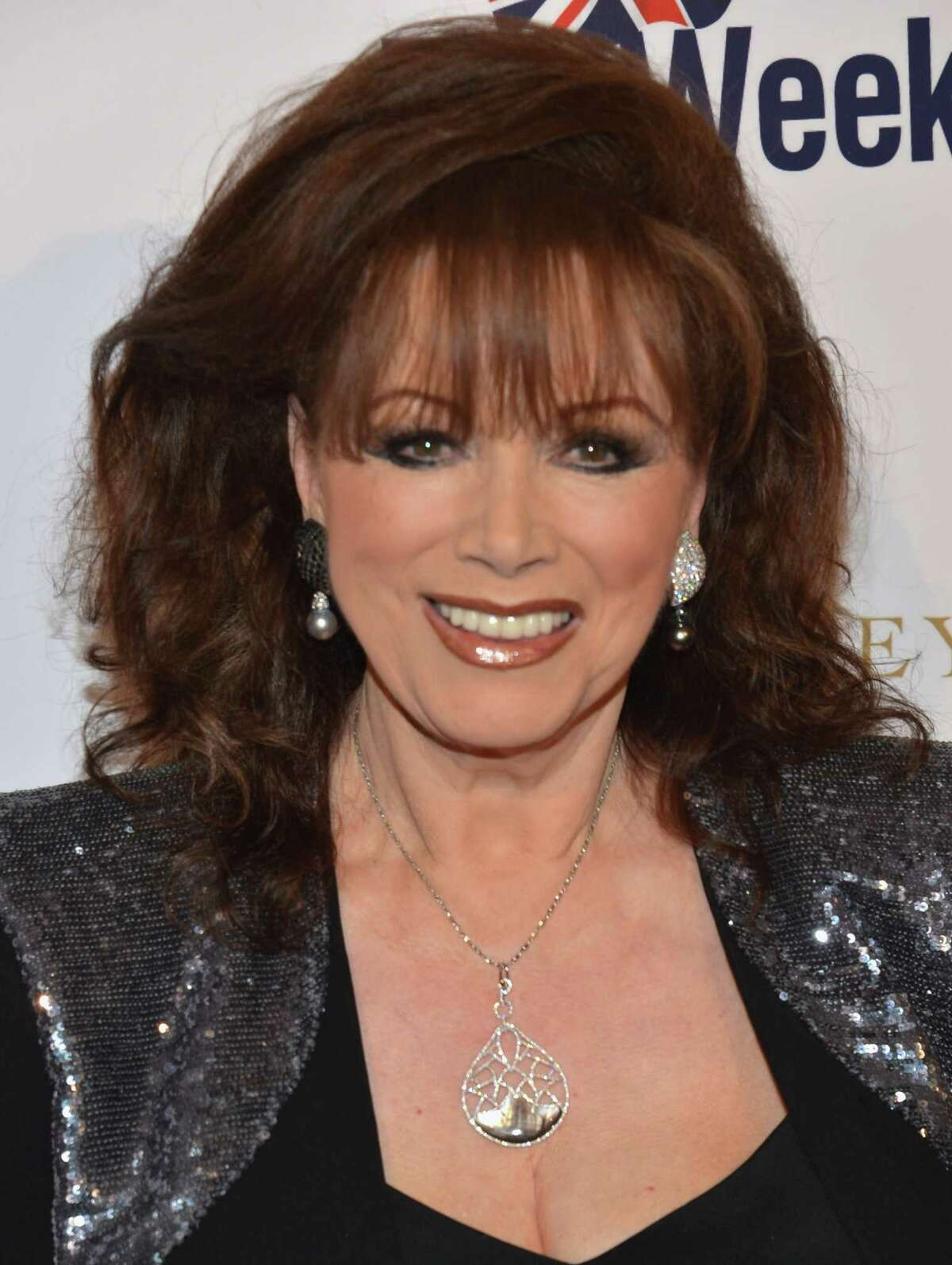"""FILE - SEPTEMBER 19: Novelist Jackie Collins has passed away after a battle with breast cancer. She was 77 years old. BEVERLY HILLS, CA - MAY 04: Author Jackie Collins arrives to BritWeek 2012's """"Evening with Piers Morgan"""" on May 4, 2012 in Beverly Hills, California. (Photo by Alberto E. Rodriguez/Getty Images)"""