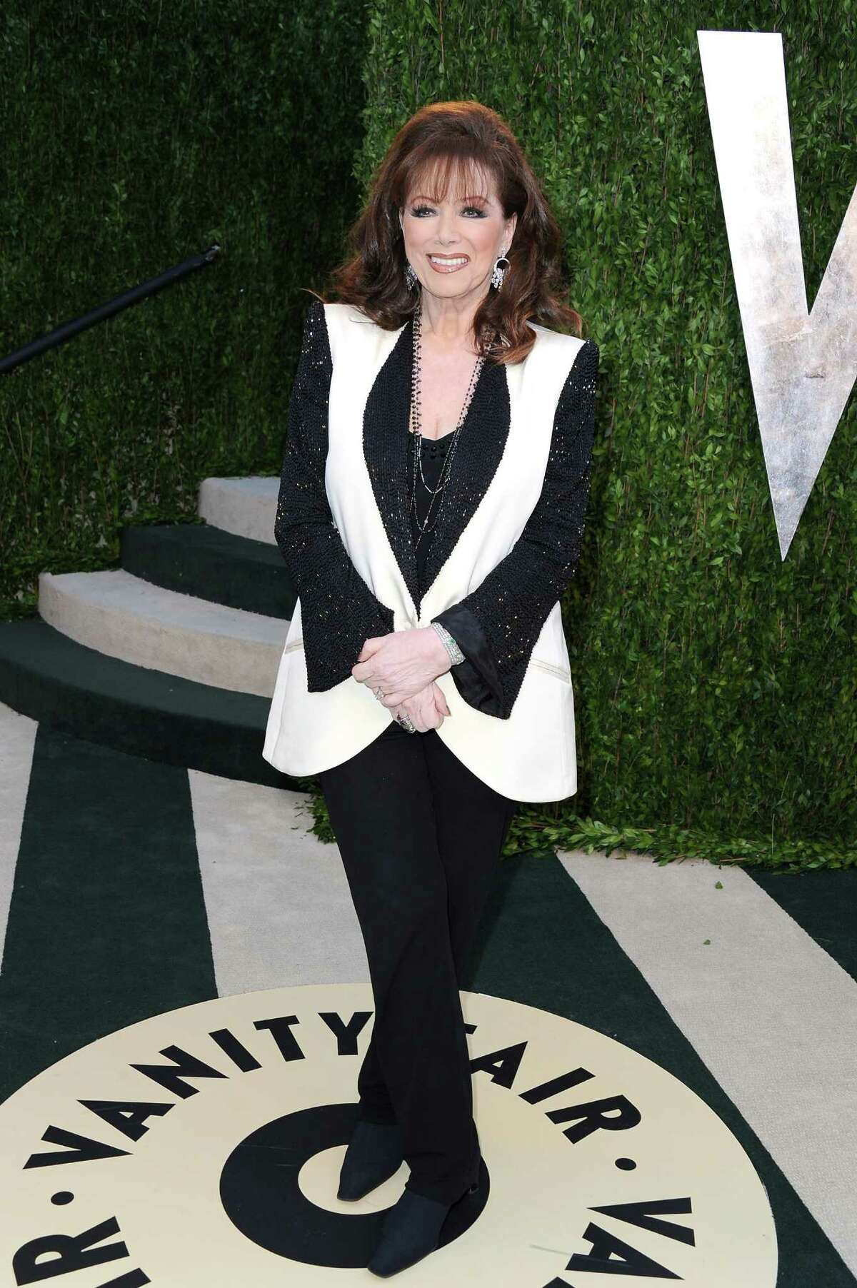 Novelist Jackie Collins dies after a battle with breast cancer. She was 77 years old.
