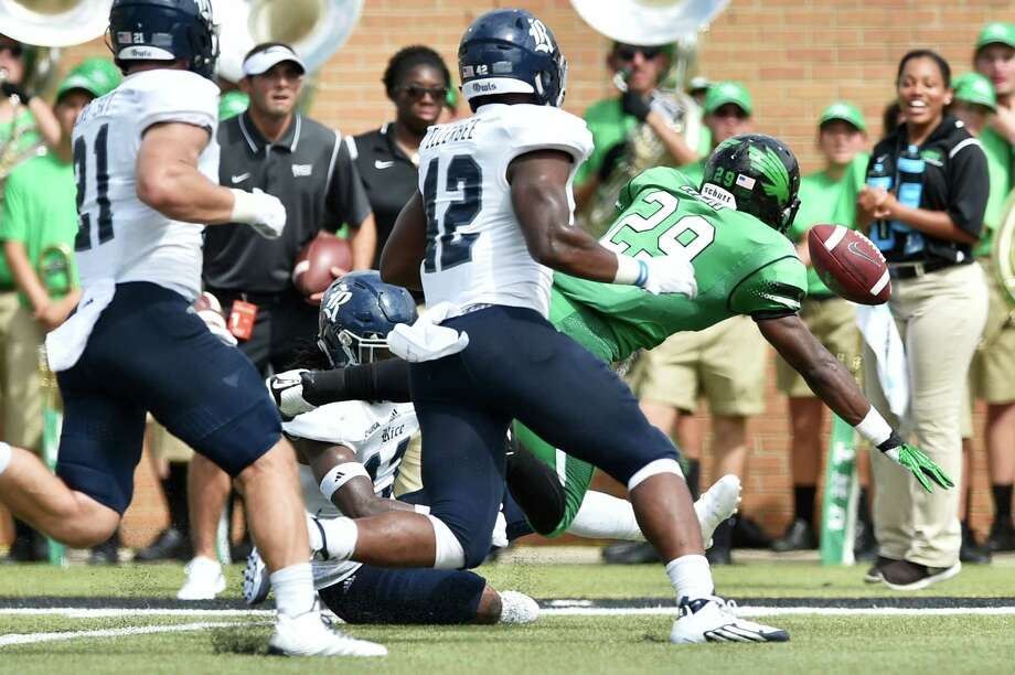 No. 12 North Texas (0-3)Ranking: UnrankedLast week: Lost at Iowa, 62-16Next: at Southern Miss, 6 p.m. SaturdayWhy they're here: The Mean Green hasn't been in a close game yet. Its closest loss was a two touchdown-defeat to Rice. North Texas isn't likely to get its first win of the season, traveling to Southern Miss. Photo: David Minton, Denton Record-Chronicle / Denton Record-Chronicle