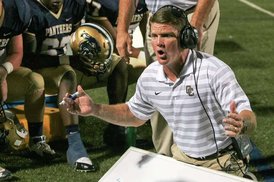 O'Connor head coach David Malesky on the sideline during their game with Johnson at Farris Stadium on Friday, Sept. 18, 2015. O'Connor won the game 37-36. Photo: Marvin Pfeiffer /San Antonio Express-News / Express-News 2015
