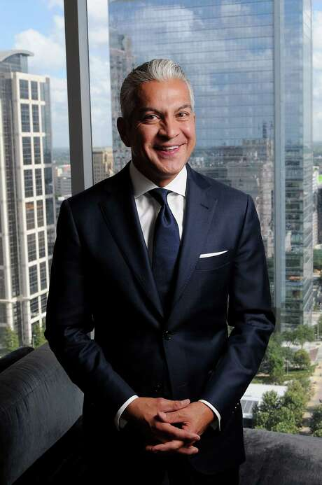 U.S. Hispanic Chamber of Commerce CEO and President Javier Palomarez talks about the major issues for Hispanic business orders and the annual convention. Photo: Dave Rossman /For The Houston Chronicle / Freelalnce