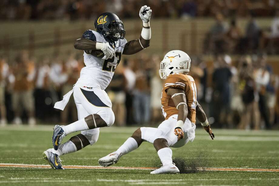 Cal running back Vic Enwere, filling in for Daniel Lasco, rushed 16 times for 73 yards and two touchdowns against the Longhorns. Photo: Cooper Neill, Getty Images
