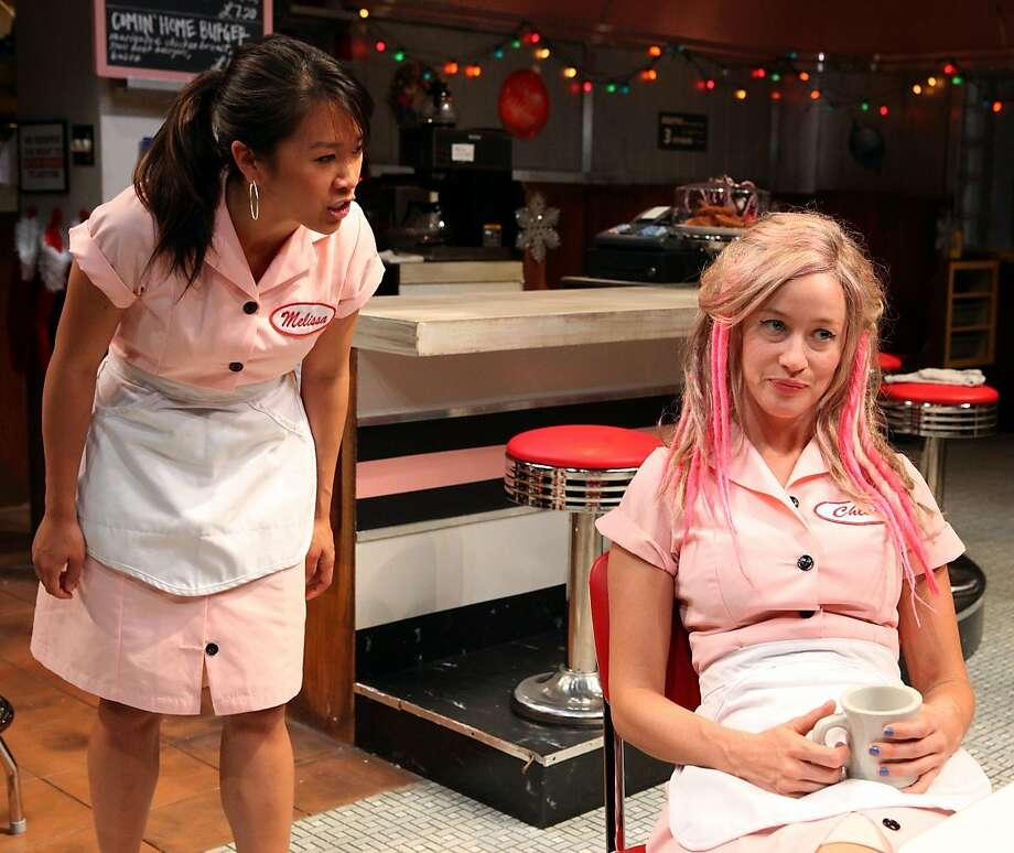 """Waitresses Melissa (Katherine Chin, left) and Chloe (Jessi Campbell) at Magic Theatre's """"Fred's Diner."""" Photo: Jennifer Reiley"""