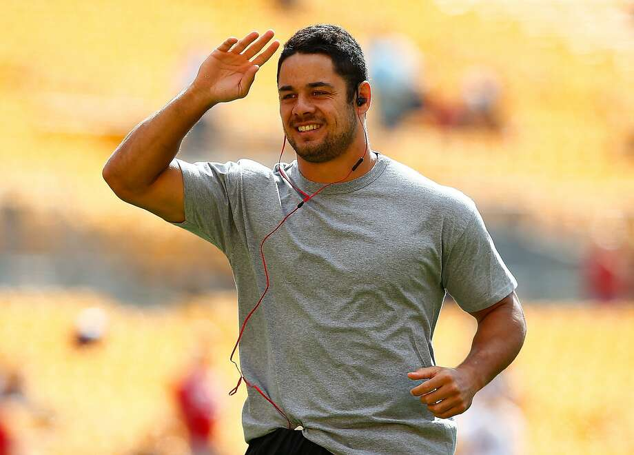 PITTSBURGH, PA - SEPTEMBER 20:  Jarryd Hayne #38 of the San Francisco 49ers warms up prior to the game against the Pittsburgh Steelers at Heinz Field on September 20, 2015 in Pittsburgh, Pennsylvania.  (Photo by Jared Wickerham/Getty Images) Photo: Jared Wickerham, Getty Images