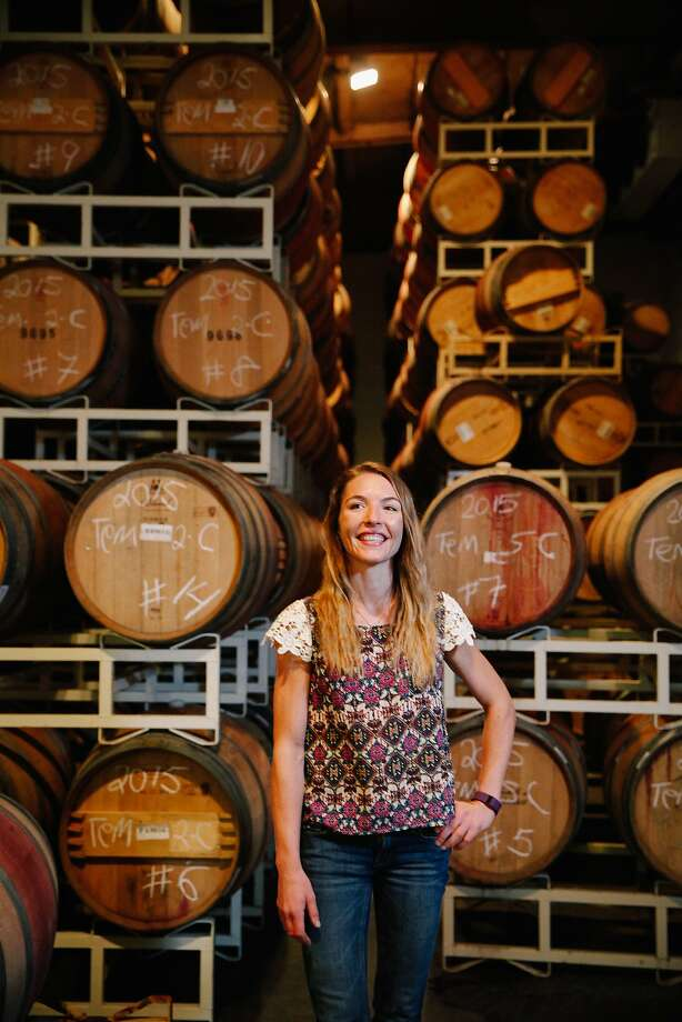 Nicole Salengo, the winemaker at Berryessa Gap. Photo: Sarah Rice, Special To The Chronicle