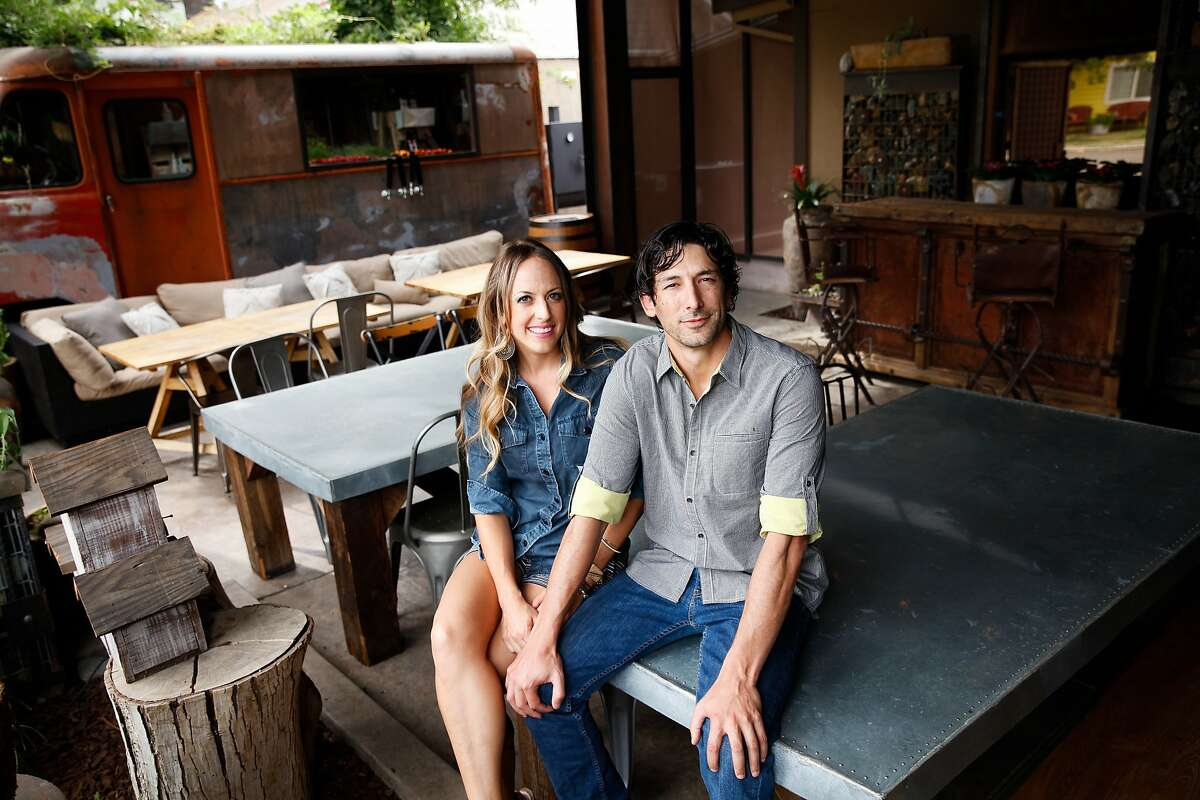 Cole and Sara Ogando of Preserve at their restaurant in Winters, Calif., on Tuesday, September 15, 2015.