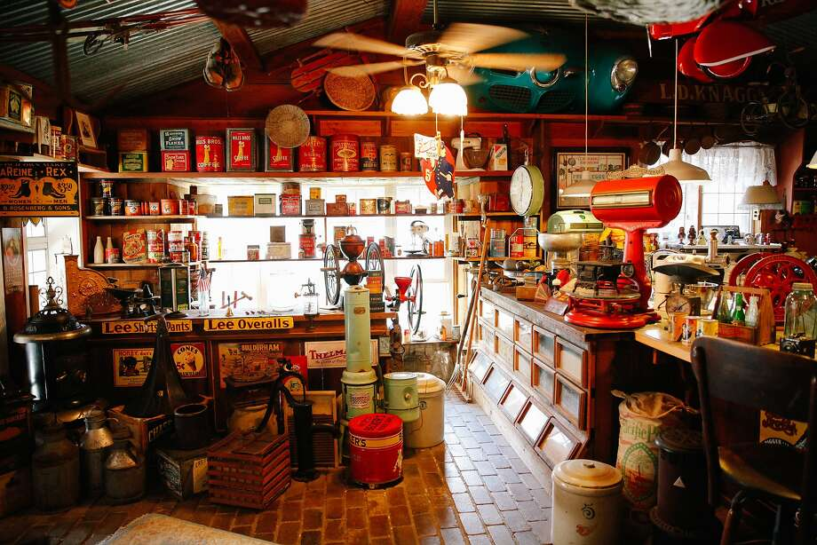 The inside of Reiff's Gas Station in Woodland, Calif., on Wednesday, September 16, 2015.  Mark Reiff turned his home into a museum. Photo: Sarah Rice, Special To The Chronicle