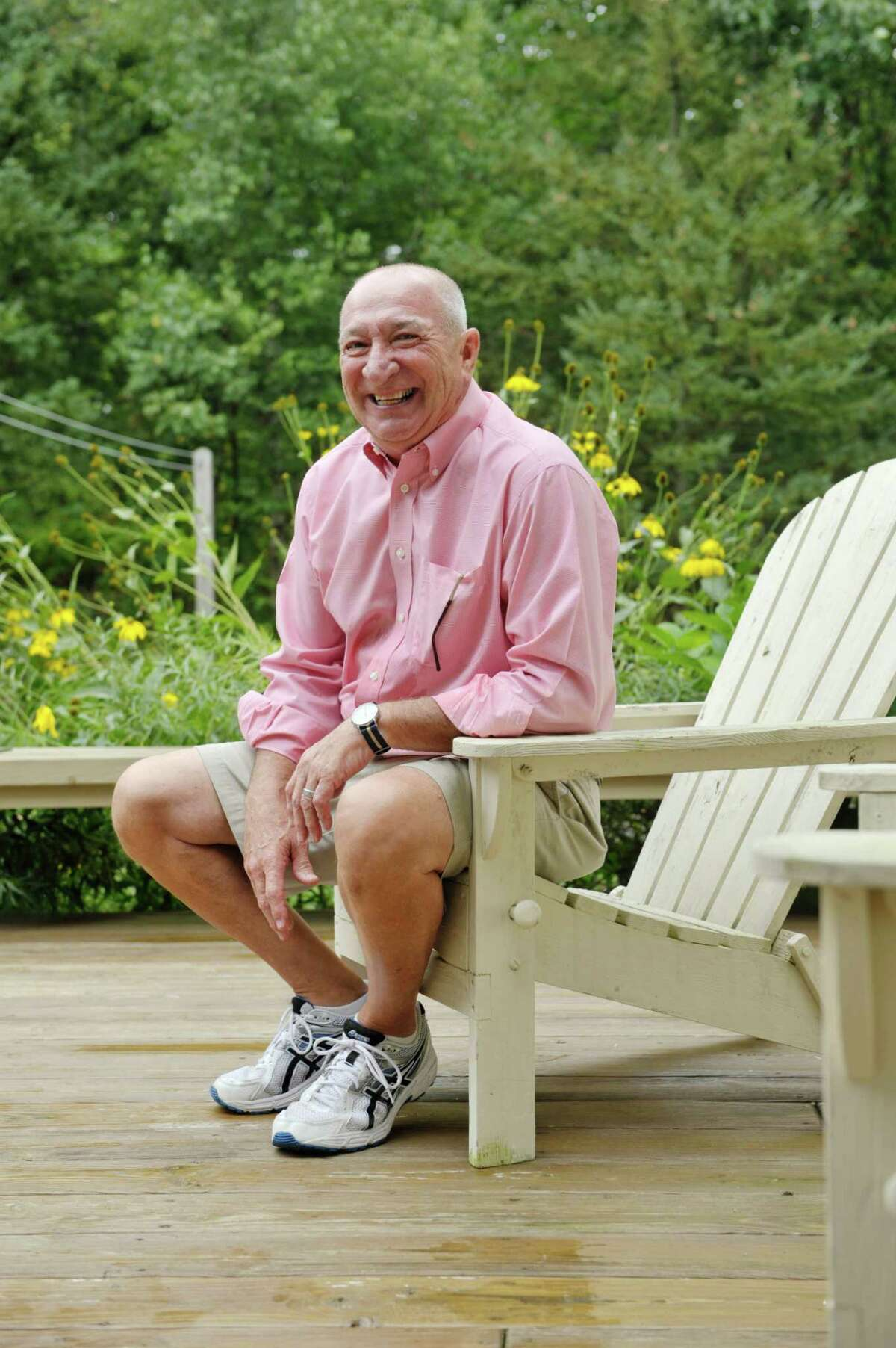 Navy, Vietnam veteran Keith Martel outside on the deck of his home on Thursday, Sept. 10, 2015, in North Greenbush, N.Y. (Paul Buckowski / Times Union)