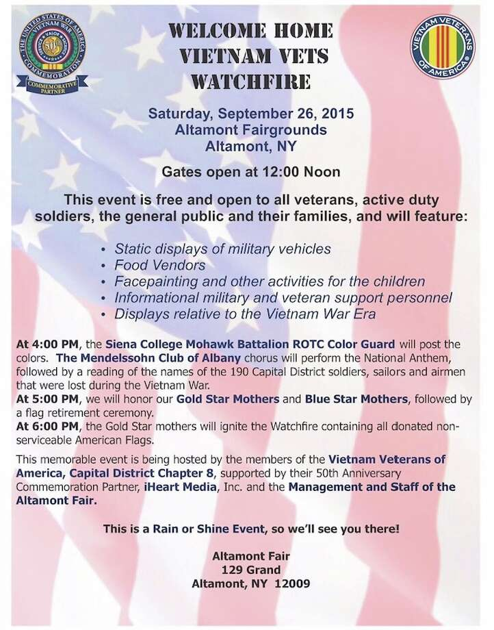 Flyer for Watchfire event, Sept. 26, 2015 in Altamont, NY
