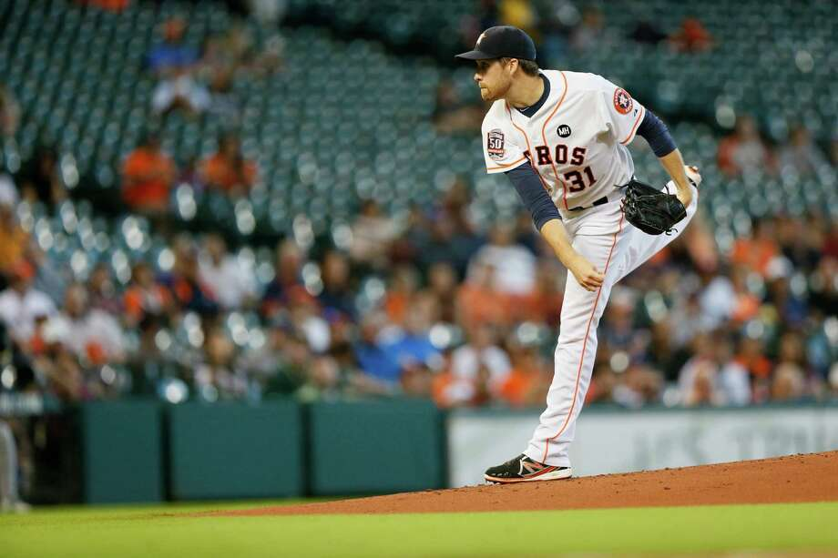 Astros starter Collin McHugh raised his record to 17-7, allowing one run on four hits in eight innings. He struck out eight and walked two. Photo: Marie D. De Jesus, Staff / © 2015 Houston Chronicle