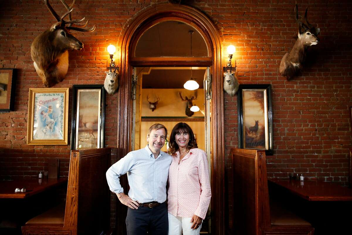 Owners John Pickerel and Melanie Bajakian at the Buckhorn Steakhouse in Winters, Calif., on Sunday, September 20, 2015.