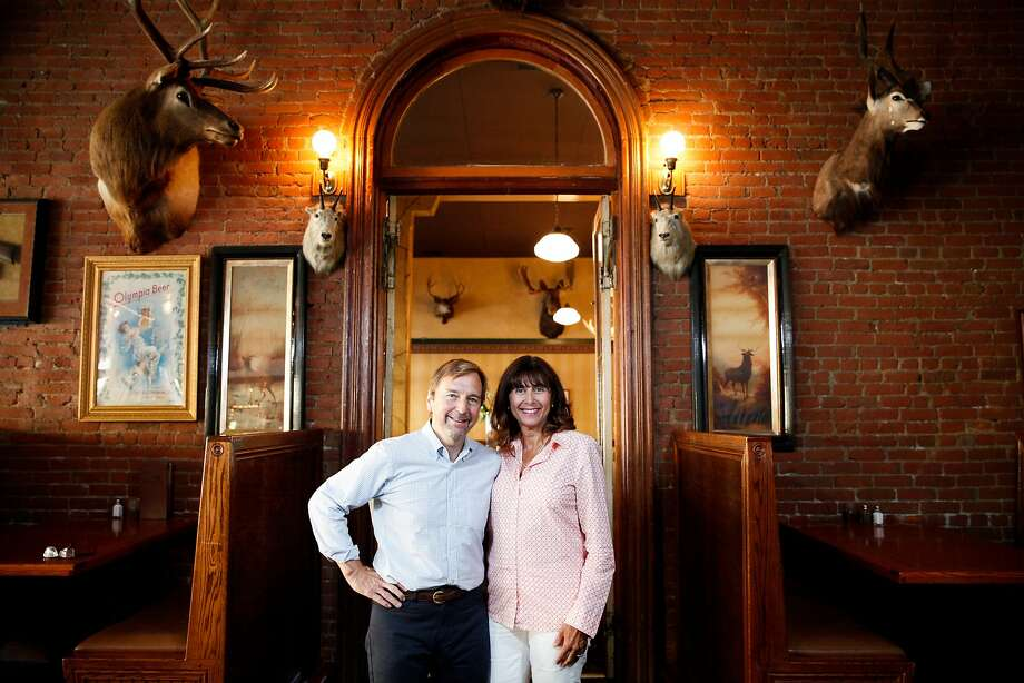 Owners John Pickerel and Melanie Bajakian at the Buckhorn Steakhouse in Winters, Calif., on Sunday, September 20, 2015. Photo: Sarah Rice, Special To The Chronicle