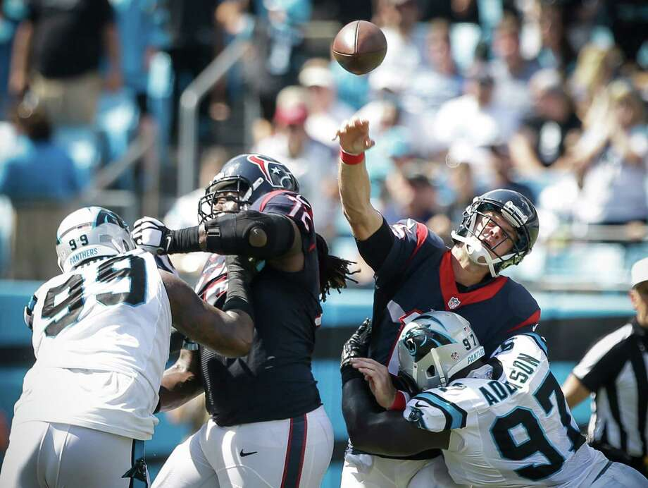 Texans quarterback Ryan Mallett threw 58 times Sunday, not exactly a recipe for success in the NFL. ( Brett Coomer / Houston Chronicle ) Photo: Brett Coomer, Staff / © 2015  Houston Chronicle
