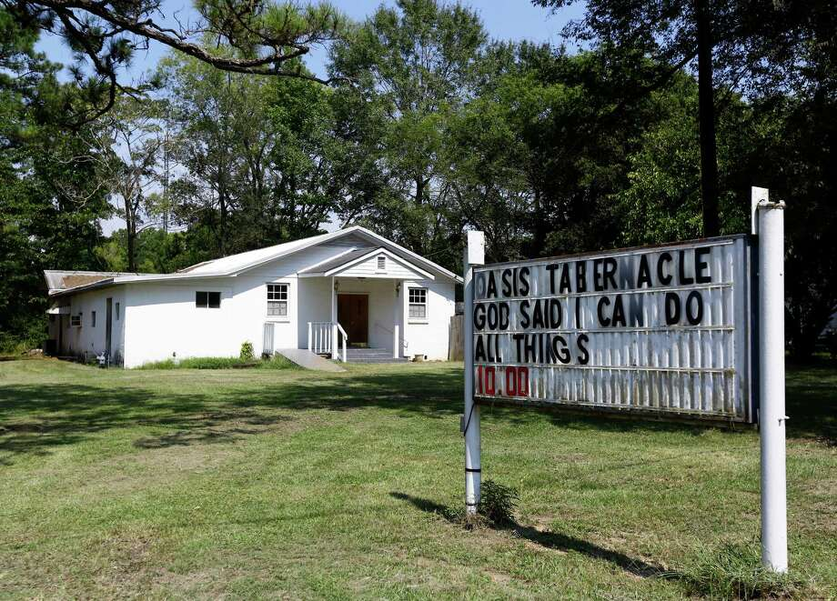 The Oasis Tabernacle Church is seen in East Selma, Ala., on Sunday, Sept. 20, 2015. Dallas County District Attorney Michael Jackson says suspect James Minter has been charged with three counts of attempted murder after allegedly shooting a woman, an infant and a pastor inside the church. (Alaina Denean Deshazo/The Selma Times-Journal via AP) Photo: Alaina Denean Deshazo, MBR / The Selma Times-Journal